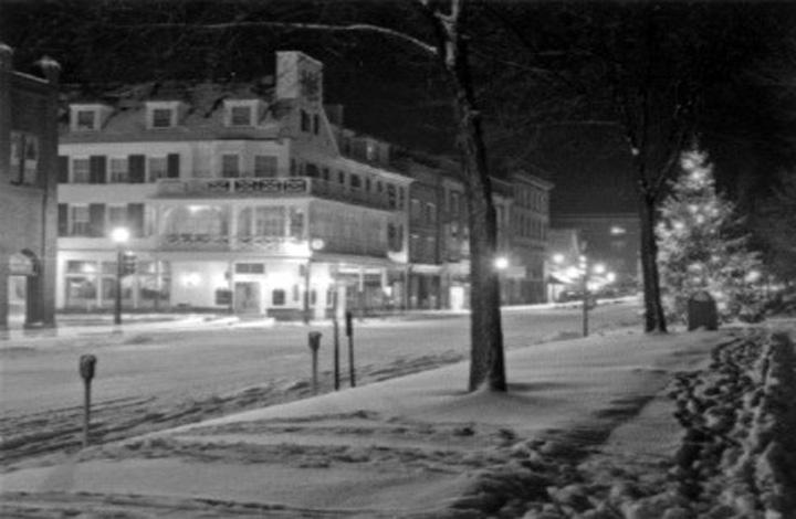 College Ave. Snow