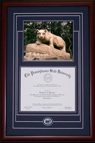 School Spirit Penn State Diploma Frame | Old Main Frame Shop