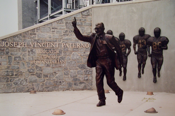 Paterno Statue | Old Main Frame Shop & Gallery