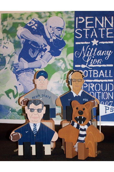 Penn State Wood Figures