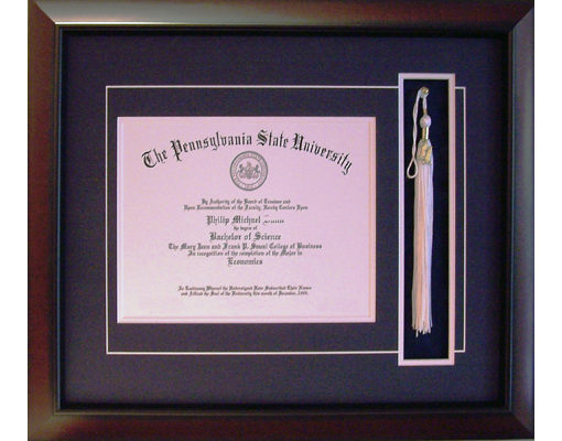 Custom Penn State Diploma Frame with Tassel | Old Main Frame Shop