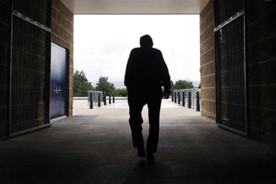 Penn State head football coach Joe Paterno leaves Beaver Stadium after his weekly news conference on Tuesday, Oct. 5, 2010 in State College, PA. Penn State plays, at home, against Illinois on Saturday.. (AP Photo/Pat Little)
