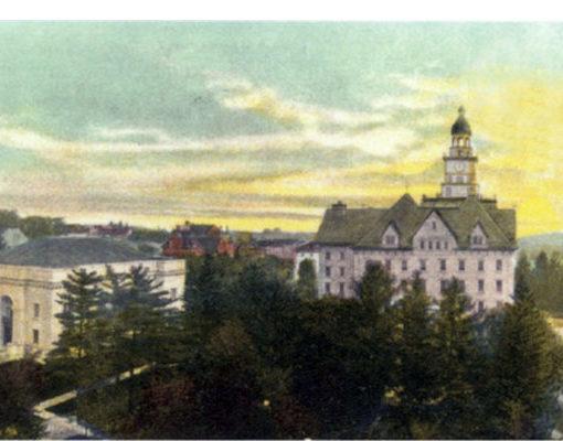 Schwab Auditorium and Old Main