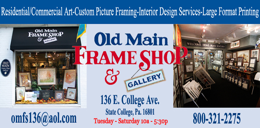 State College Framing & Art | Old Main Frame Shop & Gallery