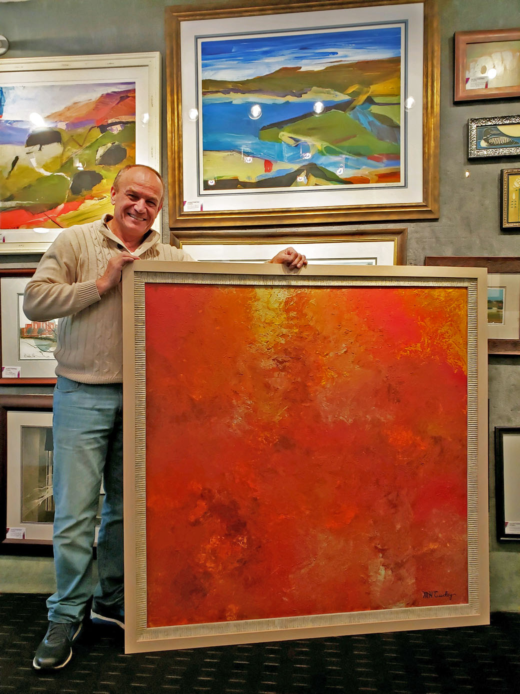 a8050c07ce3e Old Main Frame Shop framed and shipped 4 large originals to a world  headquarter in New York City for a local artist. Let us assist you with all  your framing ...